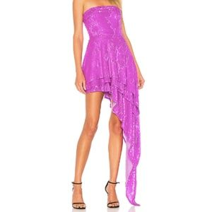 X by NBD Candy Sequin Strapless Dress in Lavender